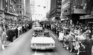 JFK's motorcade in Dallas