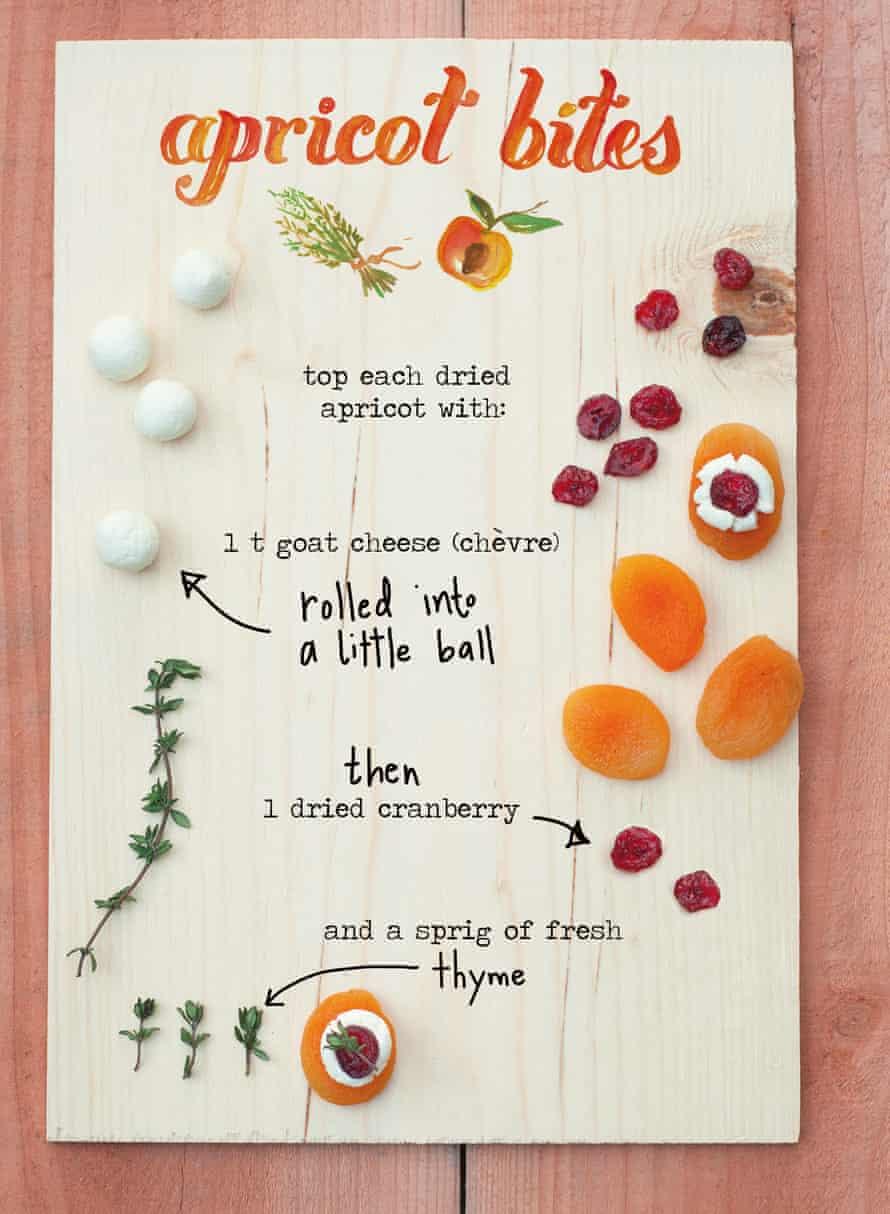 For starters: apricot bites.
