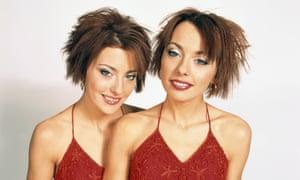 Gabriela and Monica Irimia, AKA the Cheeky Girls, in 2002.