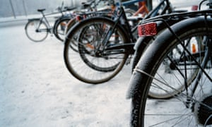 Bicycles in the snow, Tampere
