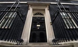 The door of 10 Downing Street.