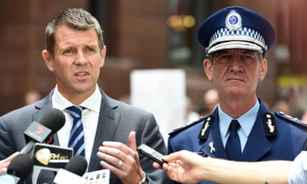 NSW premier Mike Baird and police commissioner Andrew Scipione.