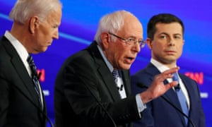 Joe Biden, Bernie Sanders and Pete Buttigieg: big night.