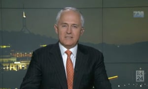 The prime minister, Malcolm Turnbull, on the ABC's 7.30 on Monday.