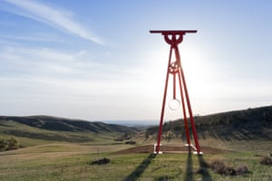 Mark di Suvero, Proverb, 2002 There are a two pieces by sculptor di Suvero at Tippet Rise. Proverb is a 60ft-high structure made of corten steel and featuring a pendulum that moves like a metronome. His other sculpture, Beethoven's Quarter, can be played with mallets, like a steel drum.