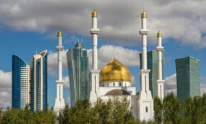 Reach for the sky: high rises and golden minarets in Astana.