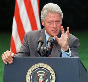 The then US president, Bill Clinton, suspended US military relations and assistance with Indonesia.