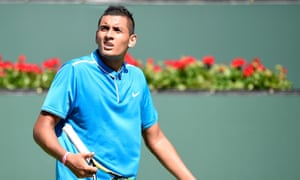 Kyrgios went down in three sets to the world No11 Dimitrov at Indian Wells.