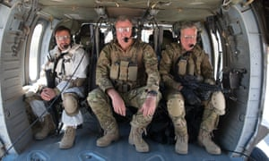 Hammond, Clarkson and May in combat fatigues