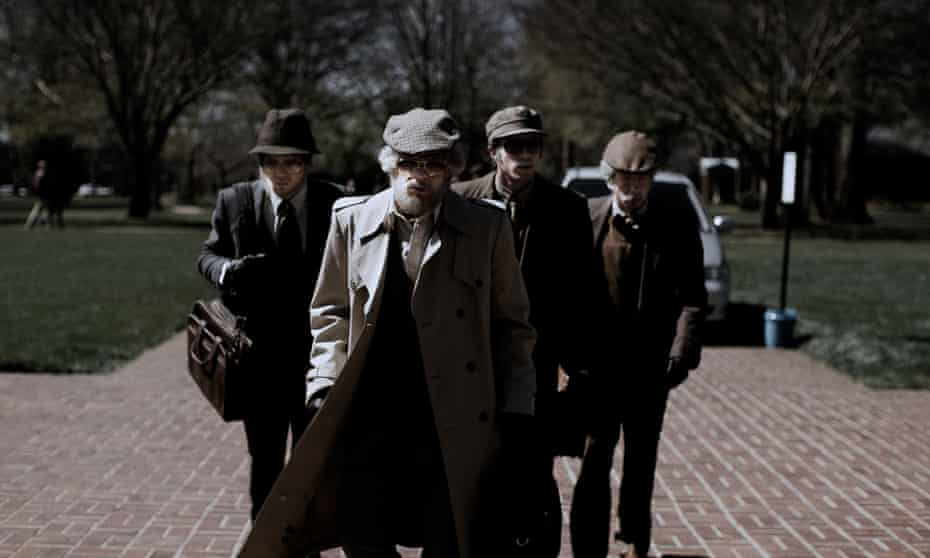 Actors Jared Abrahamson, Evan Peters, Blake Jenner and Barry Keoghan star in American Animals – but the film also features the real characters they play.
