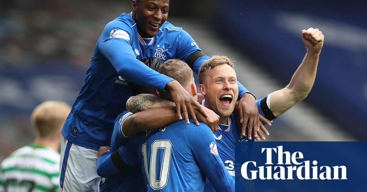 Davis overhead kick helps Rangers knock Celtic out of Scottish Cup - the guardian