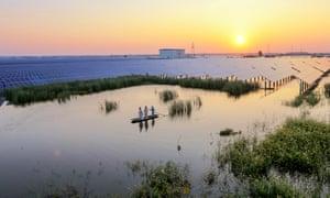 Solar arrays in Taizhou, Jiangsu Province, China