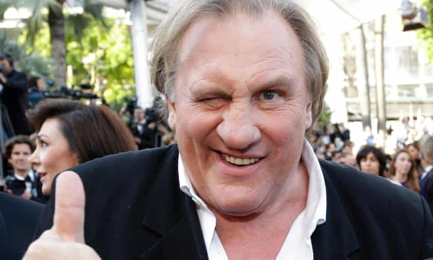 Gérard Depardieu at the Cannes film festival. He was interviewed by France Inter radio to publicise his new film, Valley of Love.