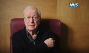 Sir Michael Caine says in the video that the vaccination 'didn't hurt'.