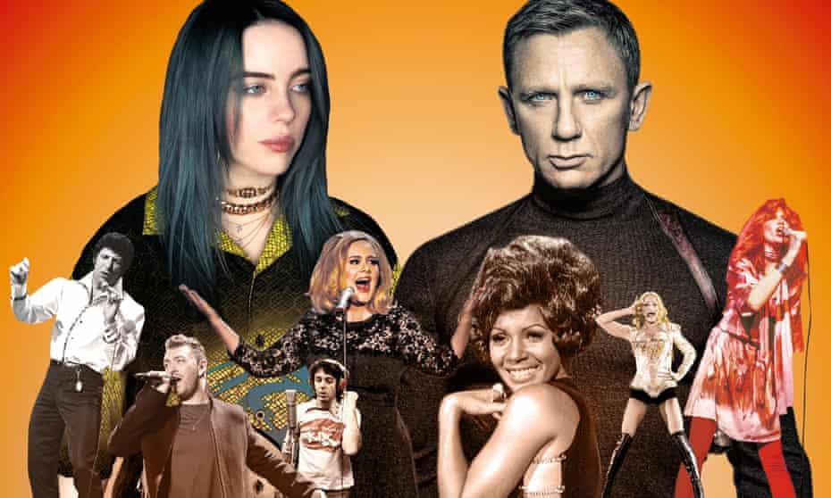 (From left) Tom Jones, Sam Smith, Billie Eilish, Paul McCartney, Adele, Shirley Bassey, Daniel Craig, Madonna and Carly Simon.