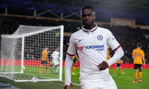 Fikayo Tomori celebrates after scoring what proved to be Chelsea's winner.
