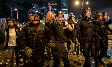 Clashes in Hong Kong after vast protest against extradition law