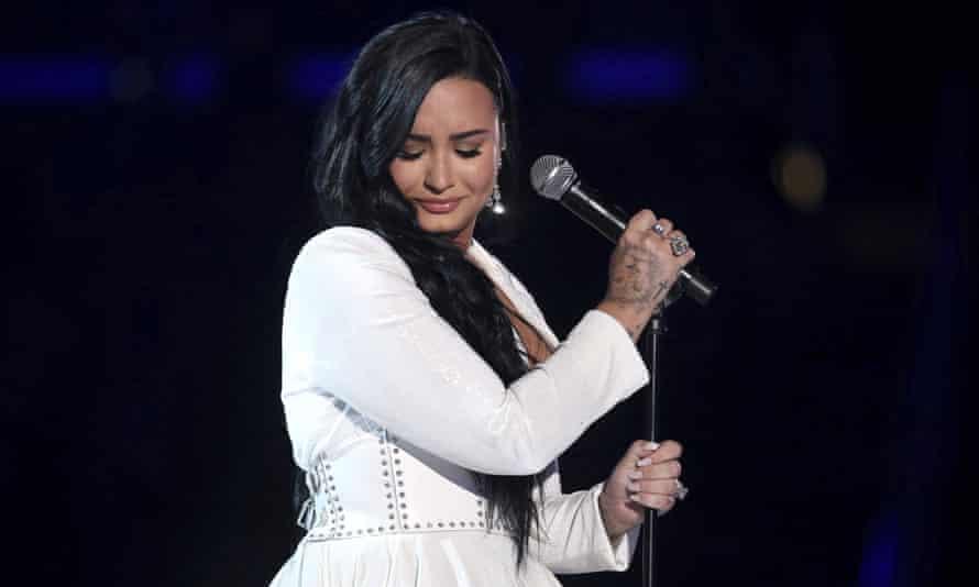 Demi Lovato performing in 2020.