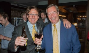 Jason Farrell and Nigel Farage (right) at the launch of Farrell and Goldsmith's book, How to Lose a Referendum.