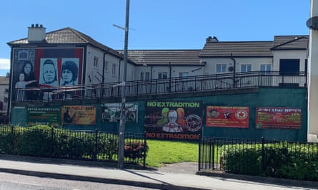 New political messages and republican recruitment posters alongside the Bogside murals.
