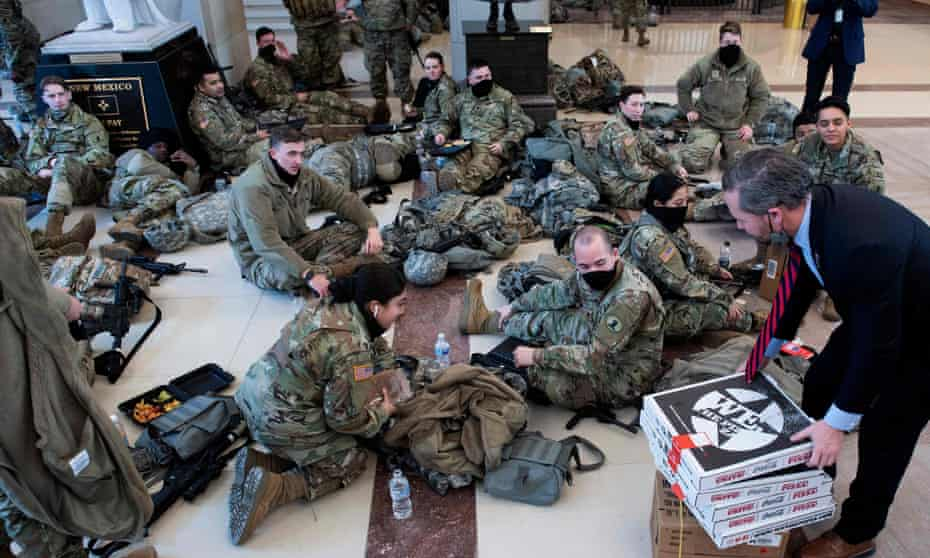 More troops were on duty at the Capitol on Wednesday than in Afghanistan or Iraq.
