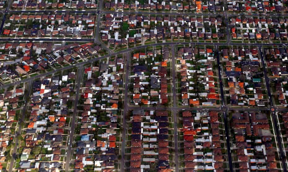 Sydney houses from the air