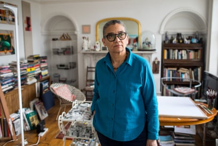 Lubaina Himid, photographed at home in Preston Lancashire.