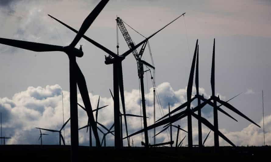 Whitelee windfarm in East Renfrewshire