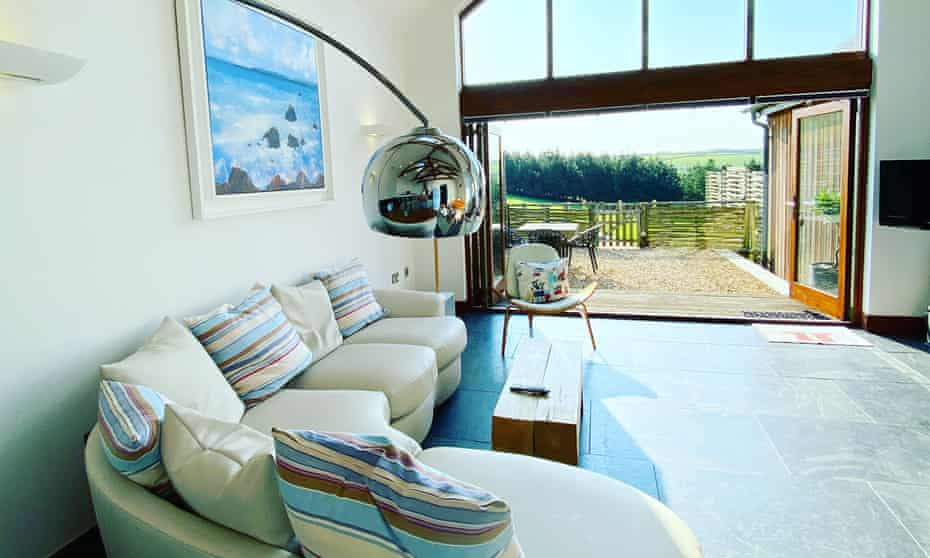 Merlin Farm interior with picture windows