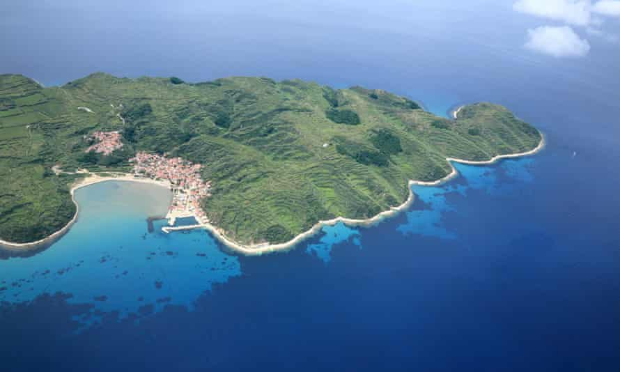 Susak island from the air