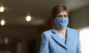 Nicola Sturgeon ahead of first minister's questions on Thursday.