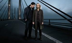 The Bridge – too far... Thure Lindhardt and Sofia Helin.