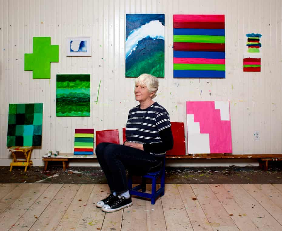 'Wow, this is like being in the Olympics' … Mary Heilmann in her New York studio.