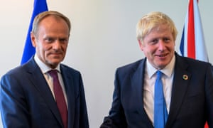 Donald Tusk and Boris Johnson.