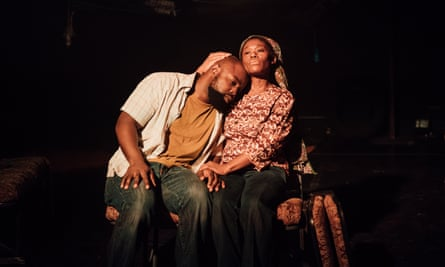 Michael Balogun and Akiya Henry in Nick Makoha's The Dark.