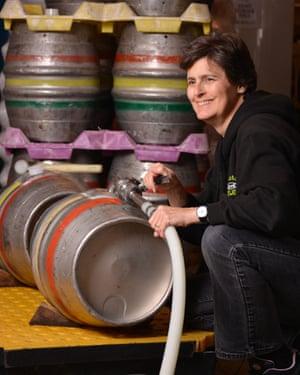 Sara Barton at Brewster's Brewery