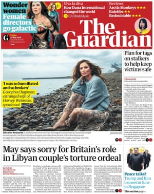 Guardian front page, Friday 11 May 2018