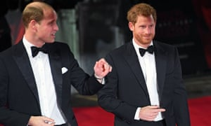 The Duke of Cambridge with Prince Harry.