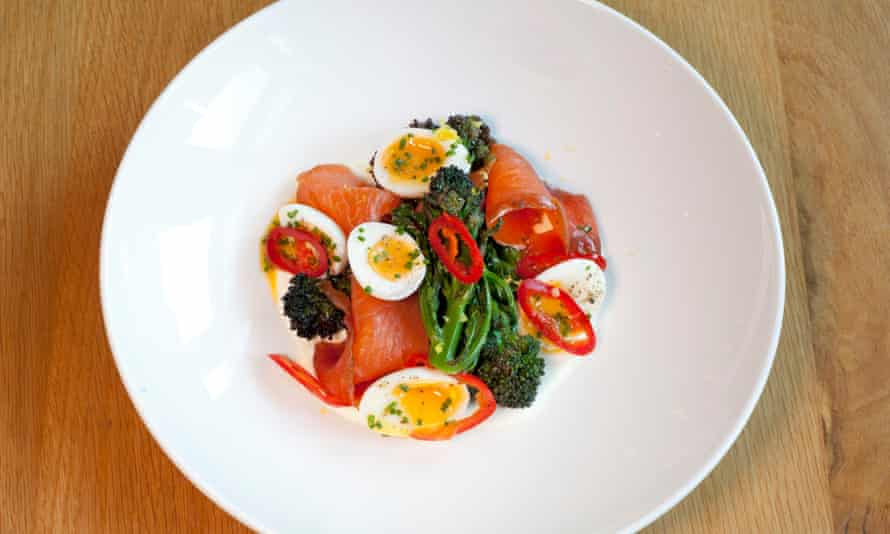 'Take quail's eggs and treacle-cured trout. Go on, take them, you know you want to': trout with quail's eggs.