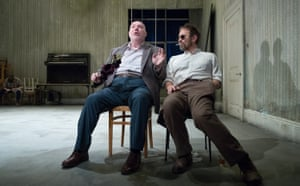 Elements of the farcical … Nick Holder as Vanya and Jason Merrells as Astrov in Uncle Vanya at Home, Manchester.