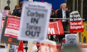 Jeremy Corbyn speaks in Parliament Square