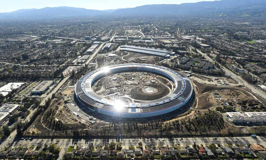 The Apple Campus 2 is seen under construction in Cupertino in January.