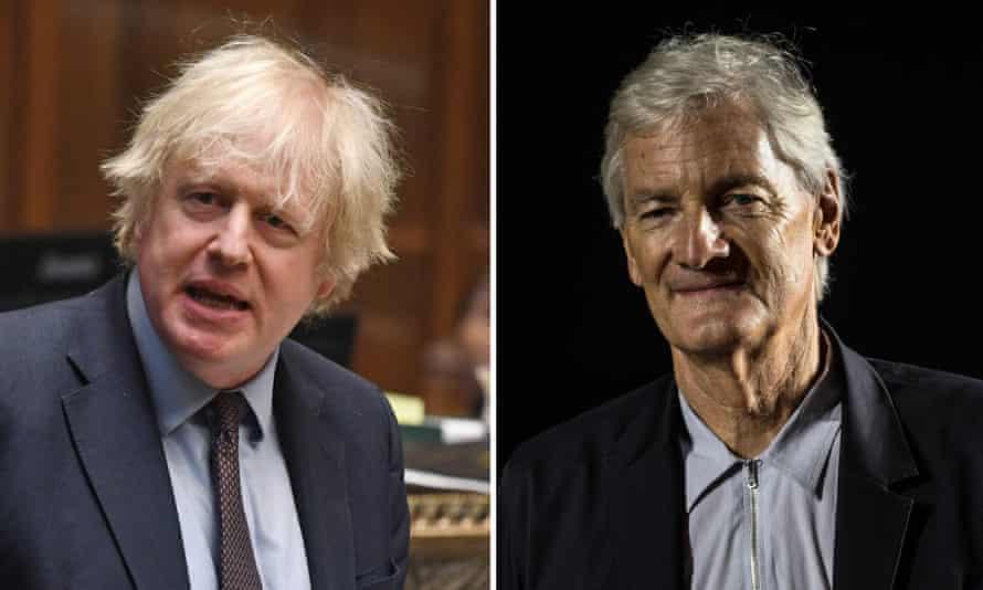 Boris Johnson and James Dyson.