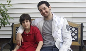 An undated photo presented as evidence during the penalty phase in the trial of Dzhokhar Tsarnaev (left) shows him with his brother Tamerlan Tsarnaev.