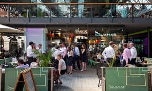 Las Iguanas restaurant in Spitalfields Market, London
