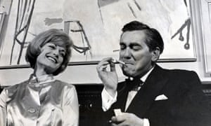 Happier times … Hancock with Margit Saad at the premiere of The Rebel, 1961.