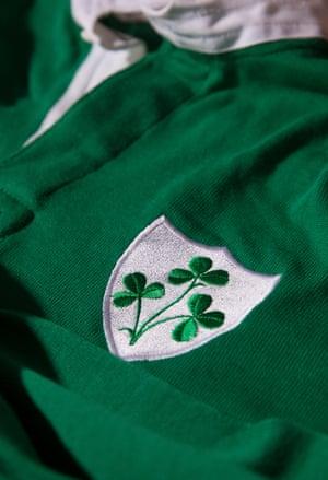 An old Irish rugby jersey belonging to Willie John McBride