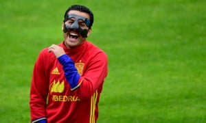 Pedro laughs during a training session in Schruns this week.