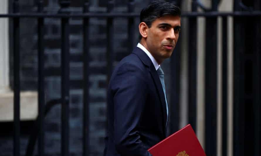 Chancellor Rishi Sunak leaving Downing Street.