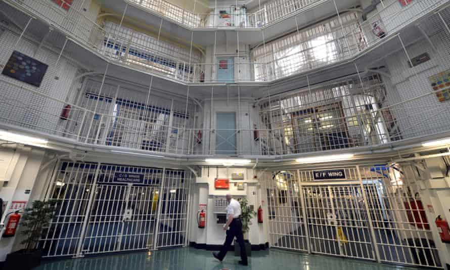 The interior of Pentonville Prison in north London